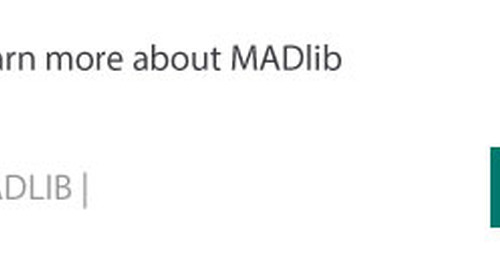 Open Source Analytics Library MADlib Receives Site Relaunch, v1.4 Release