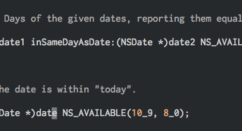 NSDate Manipulation Made Easy in iOS 8