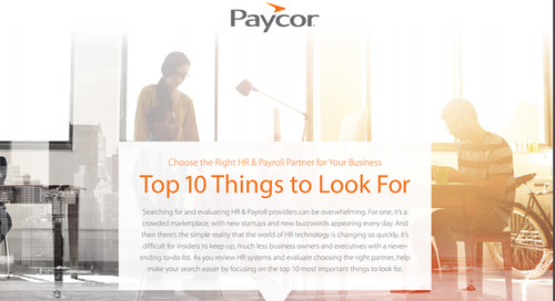 Top 10 Things to Look for in an HR & Payroll Provider