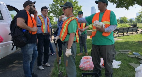 Gardening in Liberty State Park