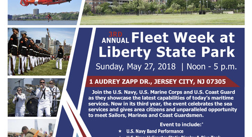 3rd Annual Fleet Week at Liberty State Park