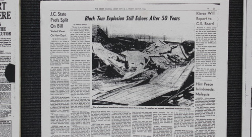 Black Tom Explosion at Liberty State Park