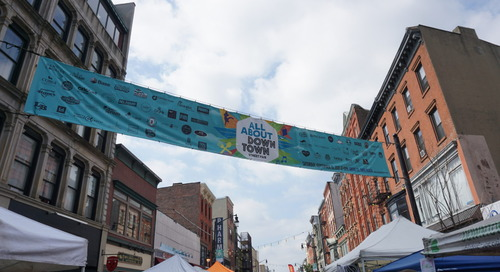 Preparing for the 9th annual All About Downtown Street Fair
