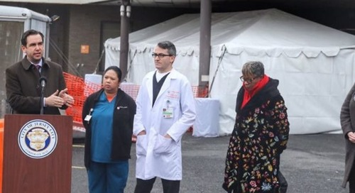 Fulop and healthcare professionals unveil screening system for potential emergency room influx