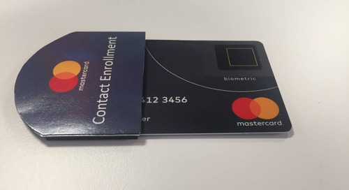 Mastercard's remote enrollment solution for biometric payment cards developed with IDEX
