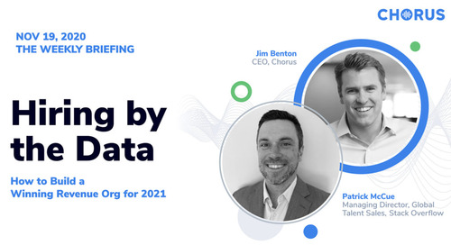 Hiring by the Data: How to Build a Winning Revenue Org for 2021