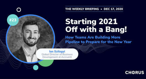 Starting 2021 Off with a Bang: How Teams Are Building More Pipeline to Prepare for the New Year