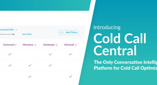Hey SDR Leaders! Meet Cold Call Central by Chorus: The ONLY conversation intelligence platform for cold call optimization