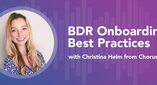 Rising to the Challenge: How Chorus Onboarded Its Largest BDR Class Ever — Remotely