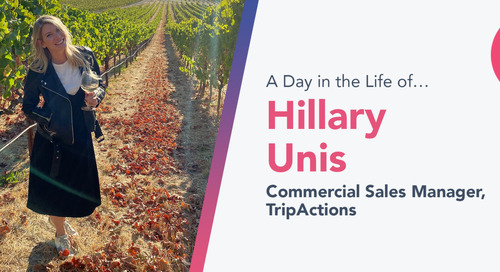 """In the Trenches"" With Her Sales Team Is Where TripActions' Hillary Unis Loves to Be"
