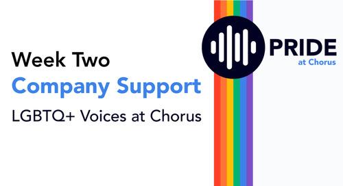Celebrating Pride at Chorus: Week Two