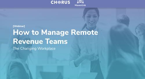 The Remote Revenue Team Playbook