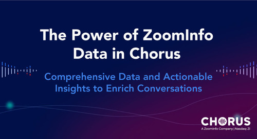 The Power of ZoomInfo Data in Chorus
