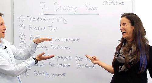 Avoid the 7 Deadly Sins of Messaging for Killer Prospecting