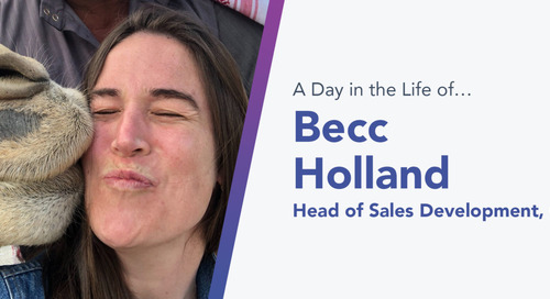 For Becc Holland, Chorus.ai's Head of Sales Development, Sales Is Much More Than a Career — It's in Her DNA