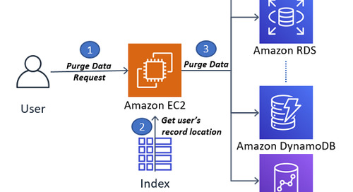 How to delete user data in an AWS data lake
