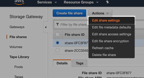 Automating cache refresh process for File Gateway on AWS Storage Gateway