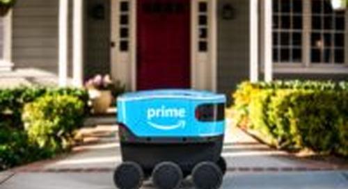 Amazon geeft bezorgrobot zonnig vervolg