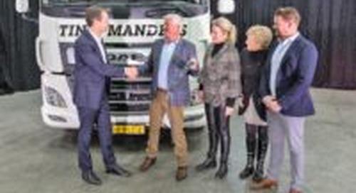 Eerste elektrische DAF afgeleverd bij Tinie Manders Transport