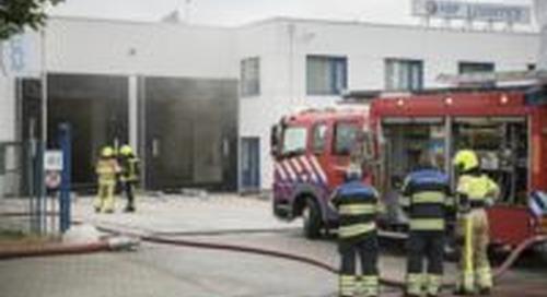 Grote binnenbrand magazijn HSF Logistics Nijmegen