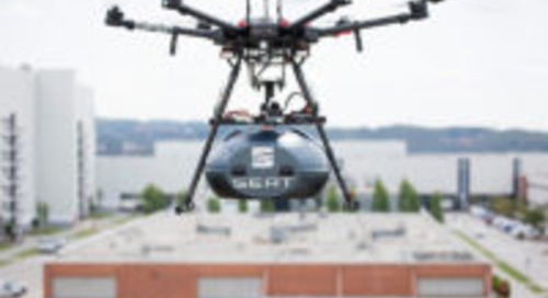 Drones leveren airbags en stuurwielen aan Seat fabriek (video)