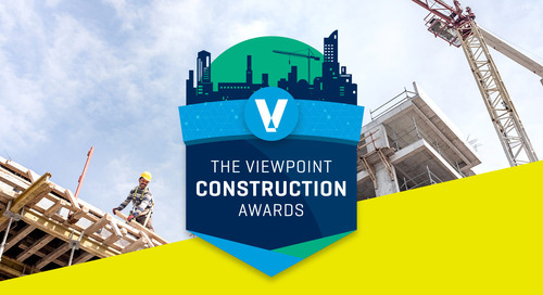 Viewpoint Announces 2020 Construction Award Winners
