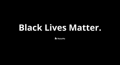 Our commitment to racial justice: a statement from RaiseMe's Co-Founder and CEO