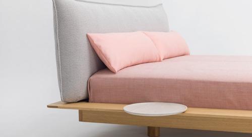 kaschkasch Designs the Floating YOMA Bed for Zeitraum
