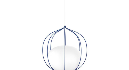 Front's Hoop Light Has a Globe Suspended Within a Cage