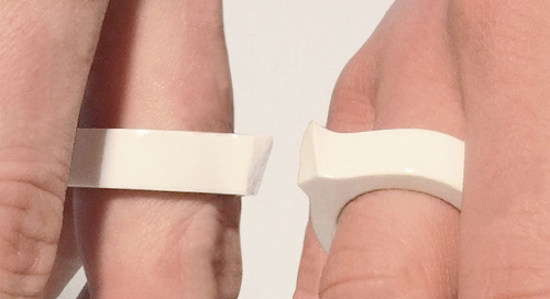 A Double Ring That Breaks in Half for You and Your Love by Frederik Roijé