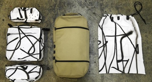 This Artist-Designed Travel Bag Is Made by 8HZ with 23 Recycled Plastic Bottles