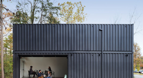 4 Shipping Containers Become a Classroom at Bard College