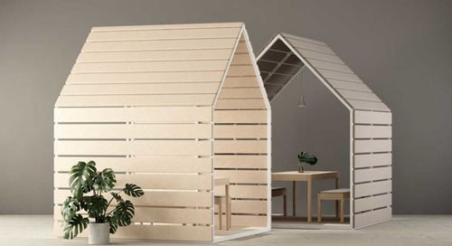 Winter Landscape-Inspired Office Pavilions and Dividers by Johan Kauppi for Glimakra