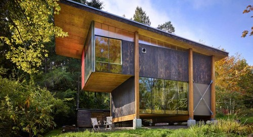 An Artist's Studio in the Woods of Washington State by Olson Kundig