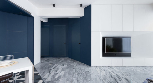 The Black, White, and Blue Residence C.L. by W&Li Design