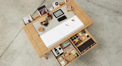Risko Drawing Desk by Digitalab for Viarco