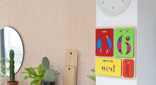 Colorful Perpetual Wall Calendar by Yoni Alter