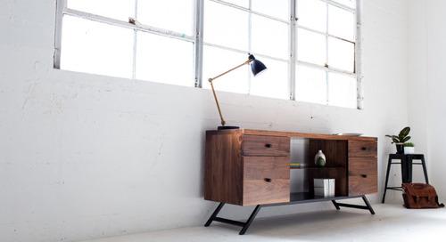 Harkavy Furniture Creates Modern Walnut & Steel Office Furniture