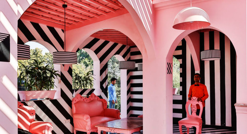 The Pink Zebra: An Eye-Popping Restaurant/Bar Inspired by the Work of Wes Anderson