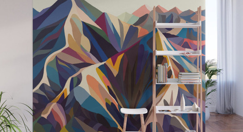 Give Your Home a Bold Accent Wall with Society6's New Peel + Stick Wall Murals