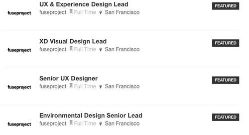 New Design Milk Job Board Listings from Gensler, Huntsman, fuseproject, + Ann Sacks