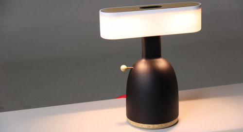 The Dina Is One Part Lamp, One Part Piggybank