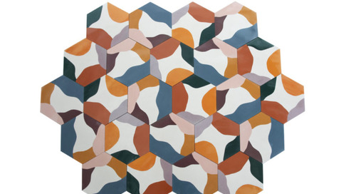 Fruit Salad: A New Kaleidoscopic Ceramic Tile Series That Can Be Installed Randomly
