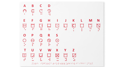 The ELIA Frames: A New Tactile Standard Alphabet for the Visually Impaired