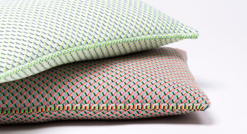 Scholten & Baijings Design Grid Knit Cushions for by TextielMuseum