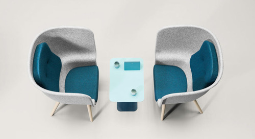 De Vorm Felt Chairs Made with Recycled Plastic Bottles