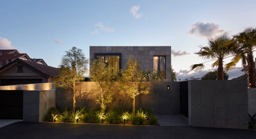 The Bluestone Clad Quarry House in Brighton, Australia by Finnis Architects