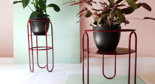 Bujnie Designs the Bauhaus-Inspired BonBon Collection of Plant Stands