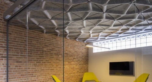Crease: A Range of Modular Acoustic Ceiling Tiles by Turf Design and MNML