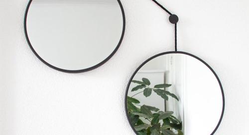 The Playfully Balanced TWINS Adjustable Mirror Set by JOKJOR